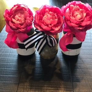 Decorative mason jars Black/white Gold
